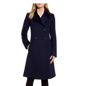 NEW FLEURETTE Double Breasted Wool Princess Coat